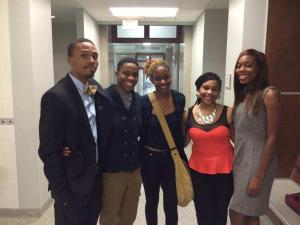 Untamed Tongues executive board after their first informational meeting. Photo credit: Alex Scott