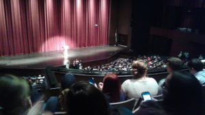 Students await for Laverne Cox at the Juanita K Hammons Hall for Performing Arts. Photo Credit: Alisha Harris, The Black Bear
