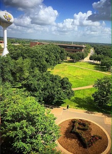 Photo credit: James Salone Prairie View A&M University (Historically Black College) taken from the 5th floor of the library and located in the middle of the walking campus.