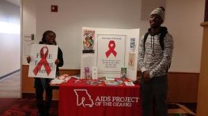 Brandi Higgins and Micah during the ABC HIV testing photo cred Alisha Harris