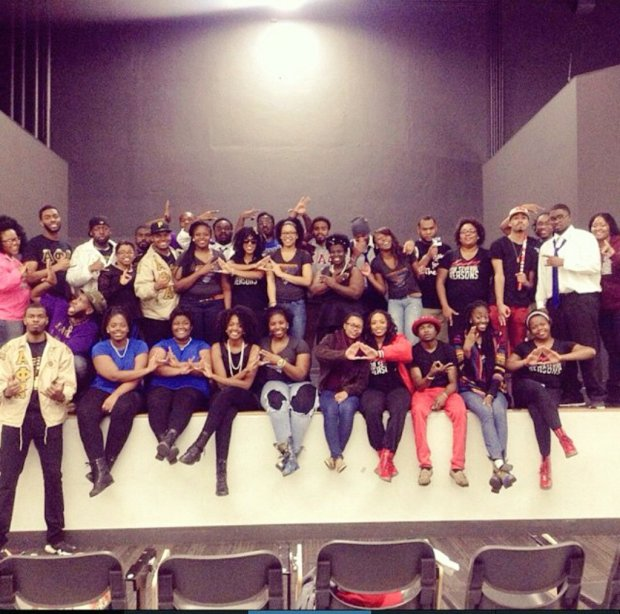 NPHC after a yard show where each organization performed a unique step. Photo courtesy of NPHC